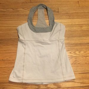 Lululemon beige/gray workout top - sz 8